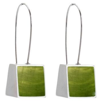 Merx Resin Shell Drop Earrings - Lime