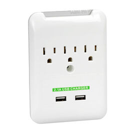 Tree Frog 3 Outlet Surge Charger - IPOWER-7