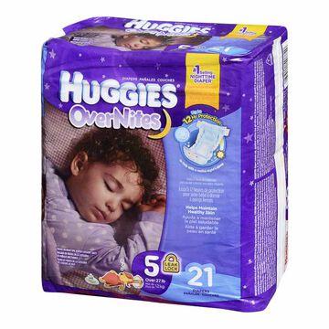 Huggies Overnites Disposable Diaper - Size 5 - 21's