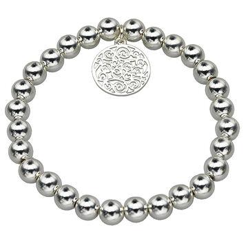 Haskell Silver Charm Bracelet