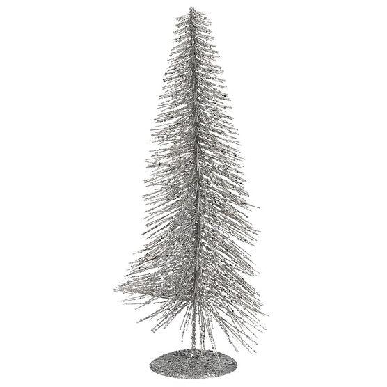 Christmas Forever Bottle Brush Tree - Silver - XM-TR1030
