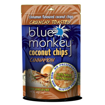 Blue Monkey Coconut Chips - Cinnamon - 40g