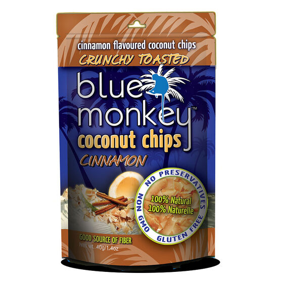 Blue Monkey Coconut Chips - Cinnamon - 40g