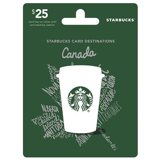 Balance Board London Drugs: Starbucks Canada Gift Card - $25