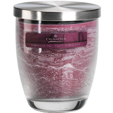 Enlighten Wax Jar with Lid Candle - Moroccan Fig