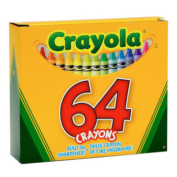 Crayola Crayons with Built-In Sharpener - 64 pack