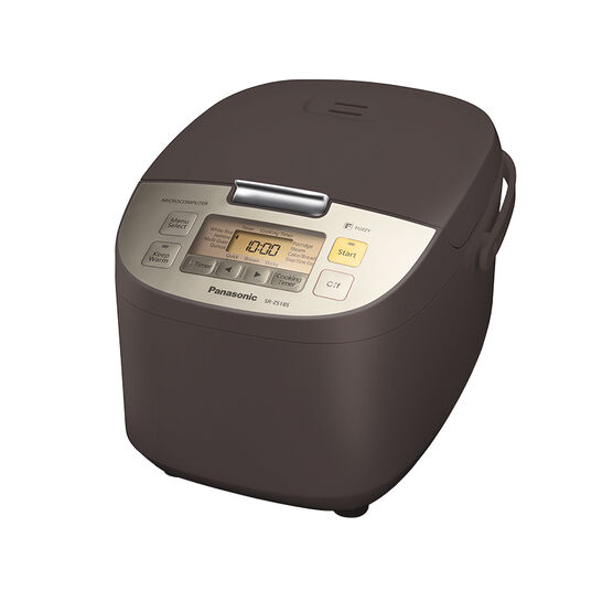 Panasonic 10 Cup Rice Cooker/Steamer -  Brown - SRZS185