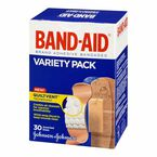 Johnson & Johnson Band-Aid Variety Pack - Assorted - 30's