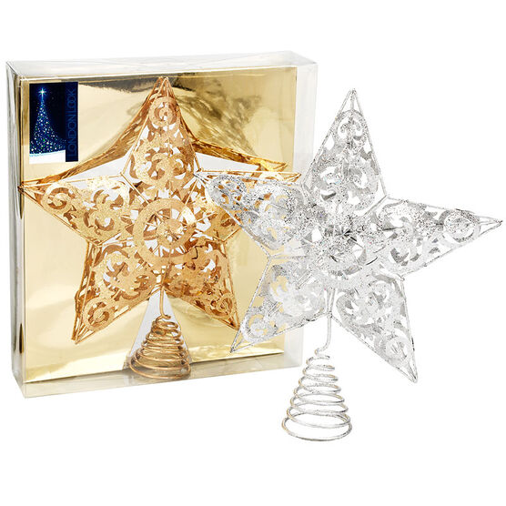 London Look Wire Star Tree Topper - Assorted