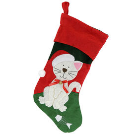 Christmas Forever Pet Stocking - 17 inch - Cat