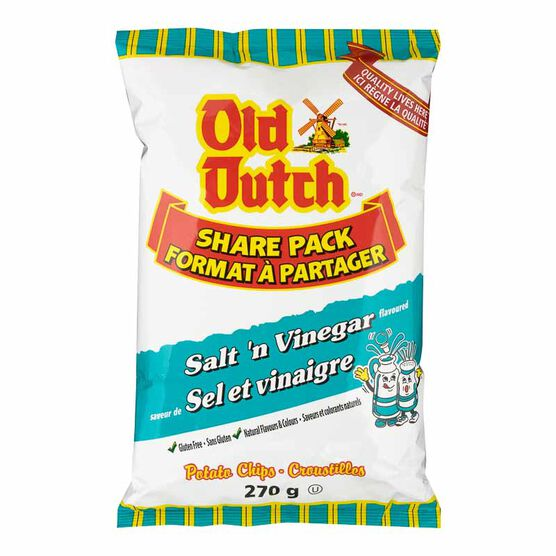 Old Dutch Potato Chips - Salt 'N Vinegar - 270g