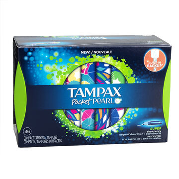 Tampax Pocket Pearl Compact Tampons - Super - 36's