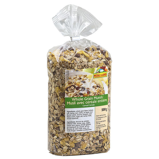 Musli-Land - Whole Grain Muesli Cereal - 500g