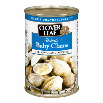 Clover Leaf Whole Baby Clams - 142g