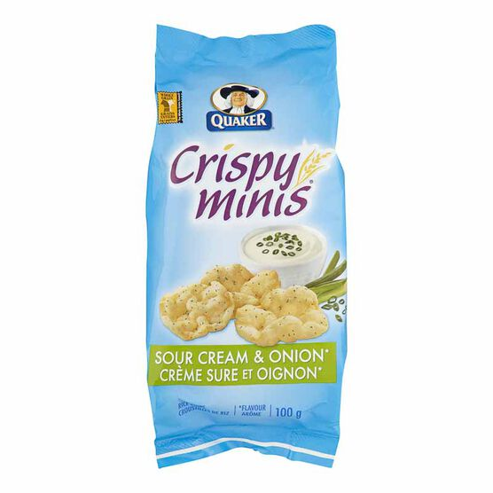 Quaker Crispy Minis - Sour Cream & Onion - 100g