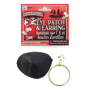 Halloween Pirate Eyepatch and Earring