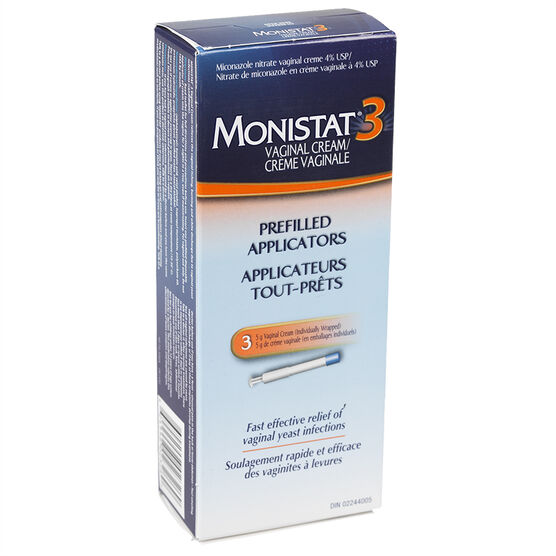 Monistat 3 Prefilled Applicators Vaginal Cream - 3 x 5g
