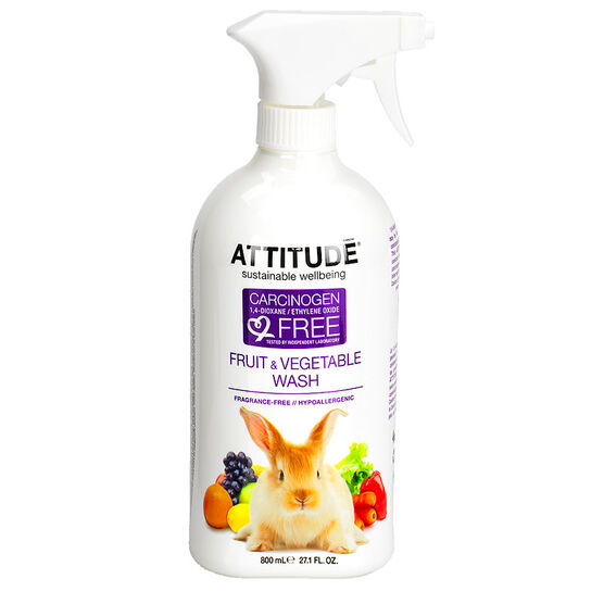 Attitude Fruit and Veggie Wash - Fragrance Free - 800ml