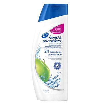 Head & Shoulders Green Apple 2 in 1 Shampoo & Conditioner - 400ml