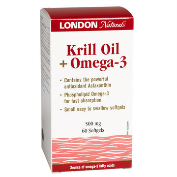 London Naturals Krill with Omega 3 - 60's