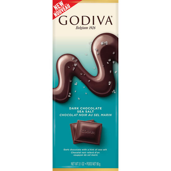 Godiva Dark Chocolate Bar - Sea Salt - 90g