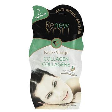 Montagne Jeunesse Renew You Collagen Face Masque - 2 x 10ml