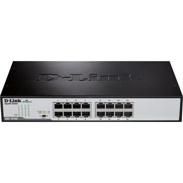 D-Link 16-Port Copper Gigabit Switch - DGS-1016D