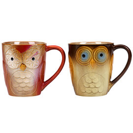 Gibson Owl City Mug - Assorted