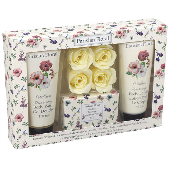 Parisian Floral Soap Set - Wild Rose - 7 piece
