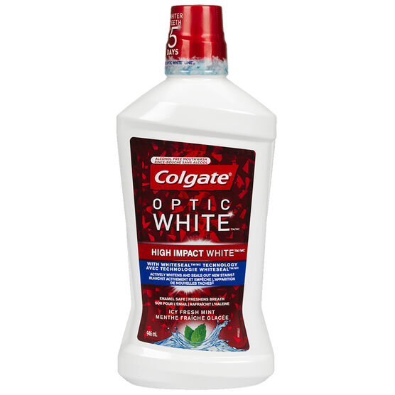 Colgate Optic White Mouthwash - Sparkling Fresh Mint - 946ml