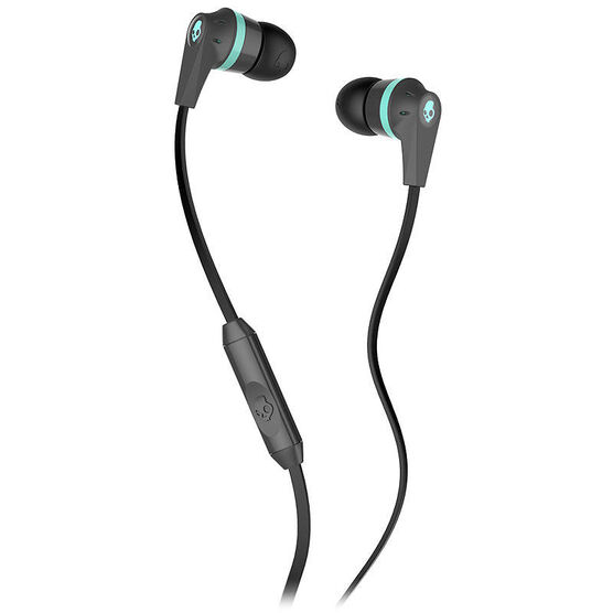 Skullcandy Ink'd 2.0 with Mic - Carbon/Mint - S2IKGY164