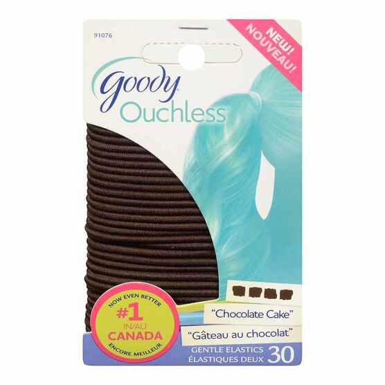 Goody Ouchless Elastics - Brown - Large - 30's
