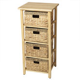 London Drugs Rubberwood Water Hyacinth Drawer - Natural - 4 Drawer