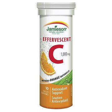 Jamieson Effervescent C 1,000 mg - Orange - 10's
