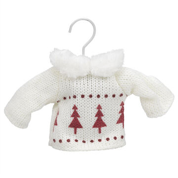 Winter Wishes Knit Sweater Ornament - 3 inch