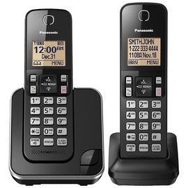 Panasonic 2 Handset Cordless Phone - Black - KXTGC382B