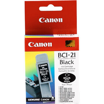 Canon BCI-21 Ink Cartridge - Black - 0954A003
