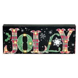 Christmas Forever Jolly LED Sign - 13.5in - XM-JC5095