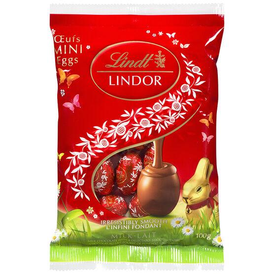 Lindt Lindor Mini Eggs - Milk Chocolate - 100g