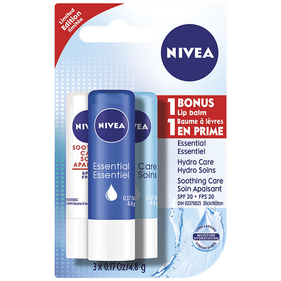 Nivea Lip Care Lip Balm - 3 x 4.8g
