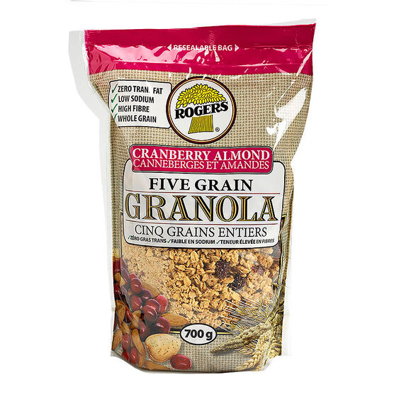 Rogers Five Grain Granola - Cranberry Almond - 700g
