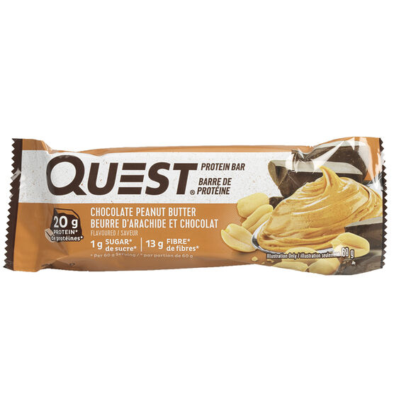 Quest Protein Bar - Chocolate Peanut Butter - 60g