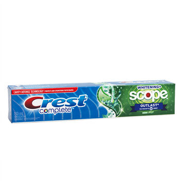 Crest Complete Extra White Plus Scope Outlast Toothpaste - Long Lasting Mint - 130ml