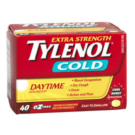 Tylenol* Cold Daytime - Extra Strength - 40 cool burst tablets