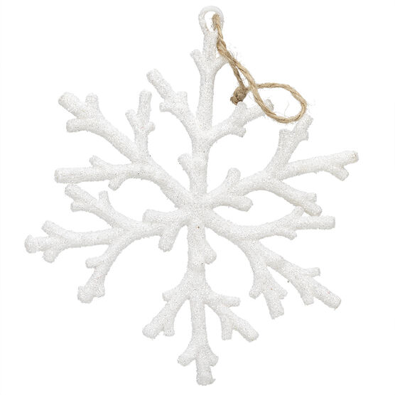 Winter Wishes Snowflake Ornament - 6.2 inch