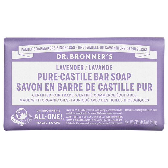 dr bronner 39 s hemp pure castile bar soap lavender 140g london drugs. Black Bedroom Furniture Sets. Home Design Ideas