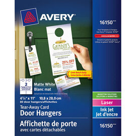 Avery Tear-Away Card Door Hangers - 16150