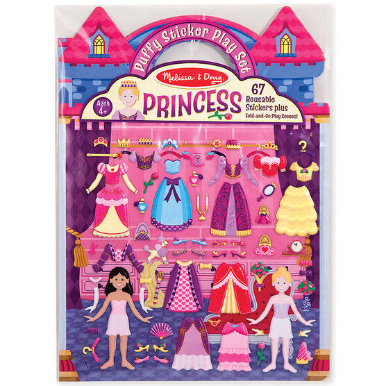 Melissa & Doug Puffy Stickers Play Set - Princess - 19100