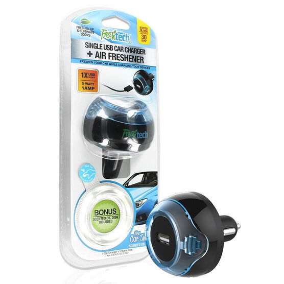 FreshTech USB Car Charger + Air Freshener - FTCCUSB1