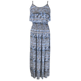 Lava Maxi Dress Layered Top - Blue